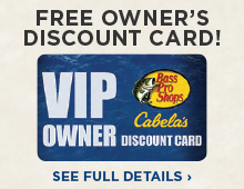Bass Pro Shops and Cabela's VIP Owner Discount Card